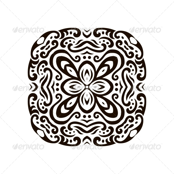 GraphicRiver Abstract Vector Mehndi Tattoo Ornament 6000016