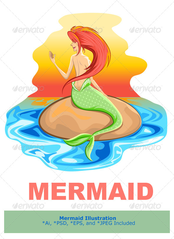 GraphicRiver Mermaid Siren Mythological Creature 6000097