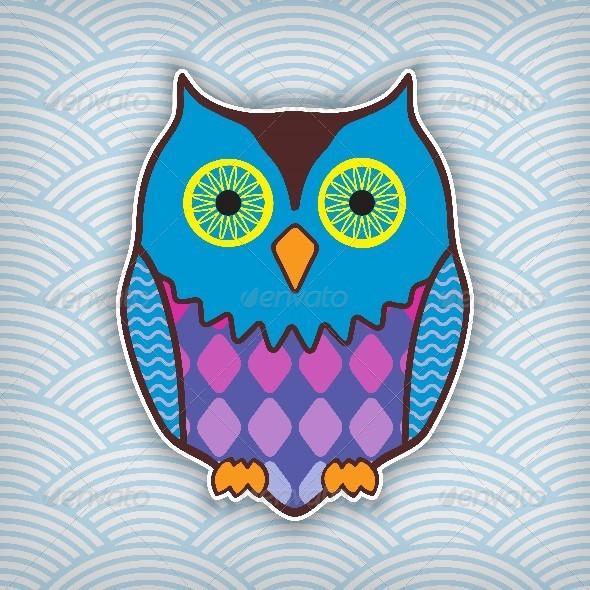 GraphicRiver Motley Owl 6000103