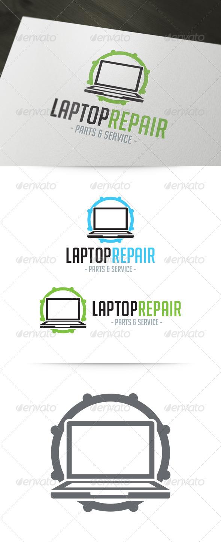 GraphicRiver Laptop Repair Logo 6000335