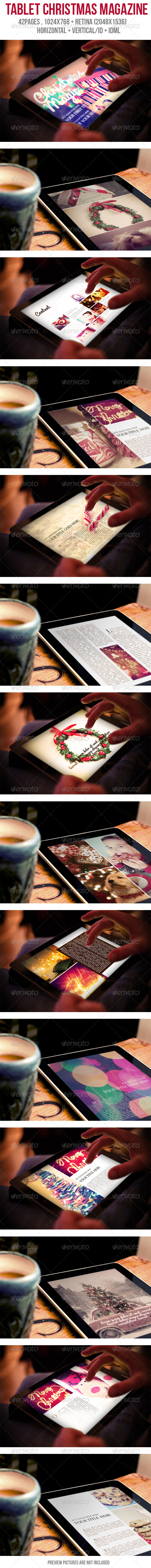 GraphicRiver Tablet Christmas Magazine 6000367