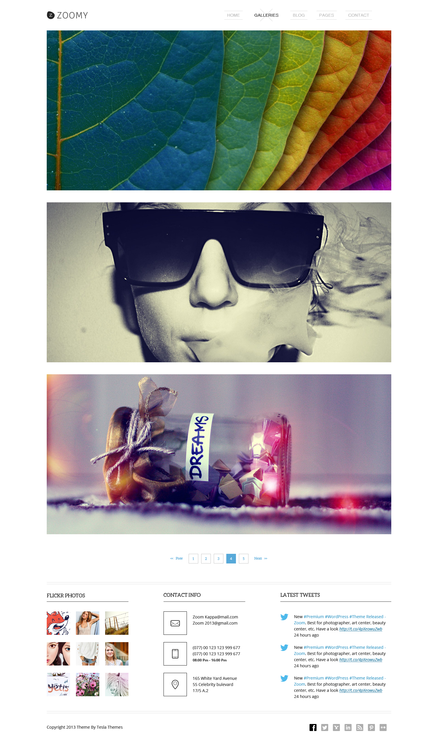 Zoomy - Professional Photography HTML Theme