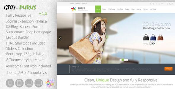 ThemeForest PURUS-Joomla Multipurpose Responsive Themes 5983769