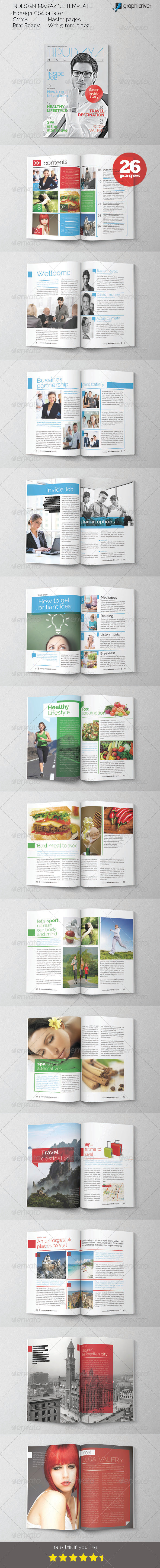 GraphicRiver Indesign Magazine Template 6000460