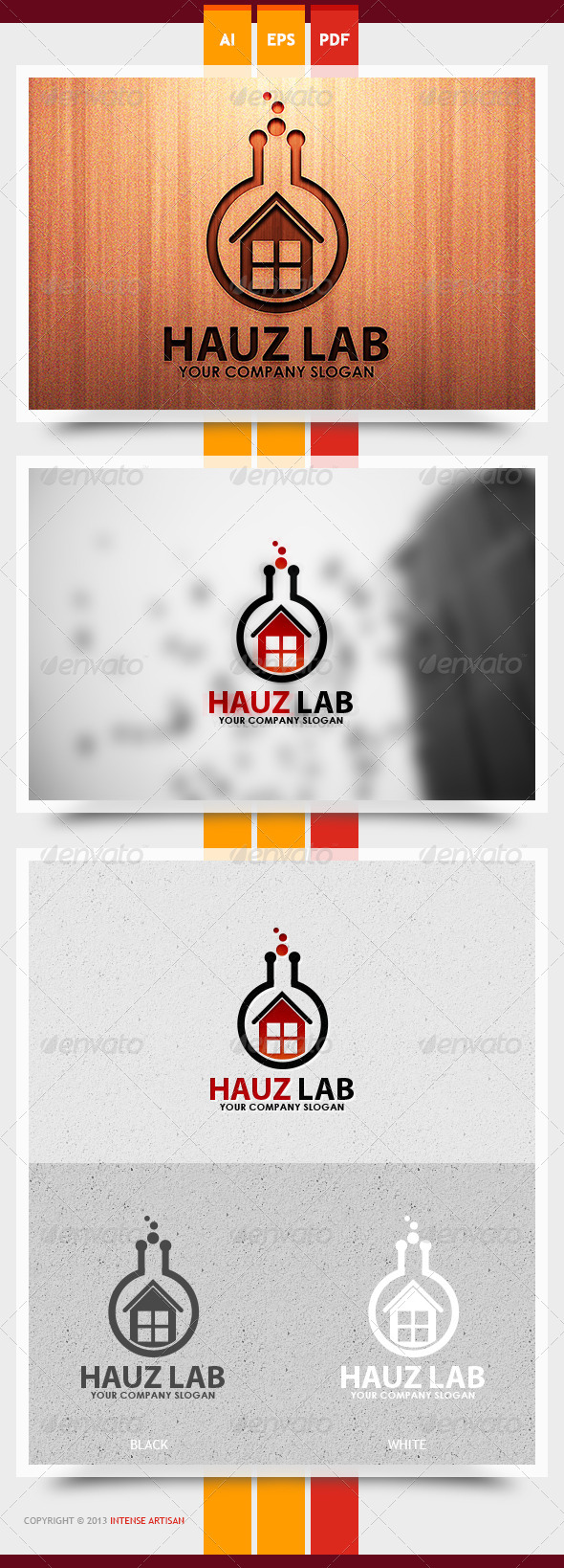 Hauz Lab Logo Template