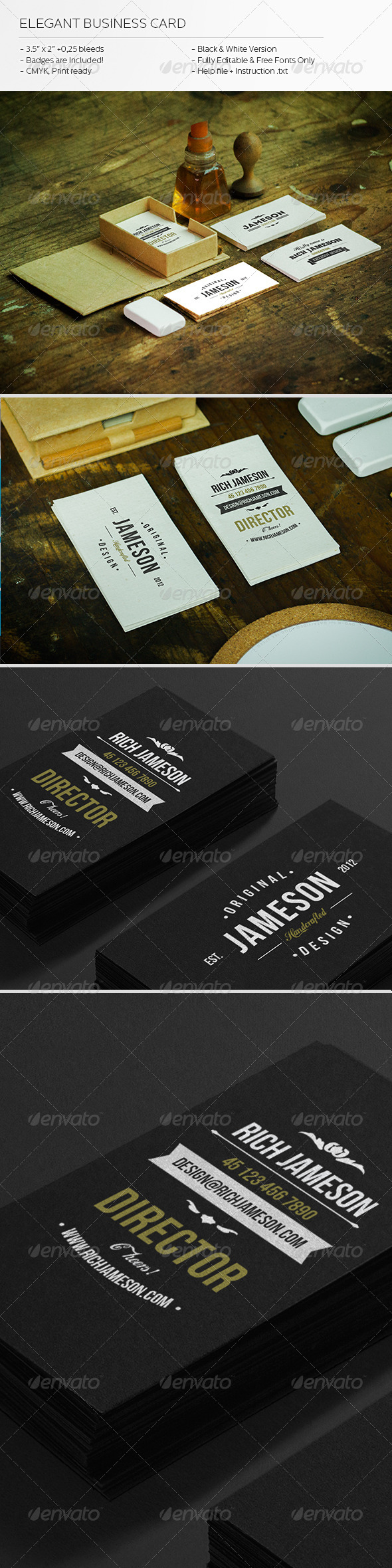 GraphicRiver Elegant Business Card 5982786