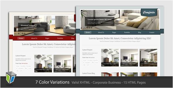 Comforta - Corporate Business HTML Template