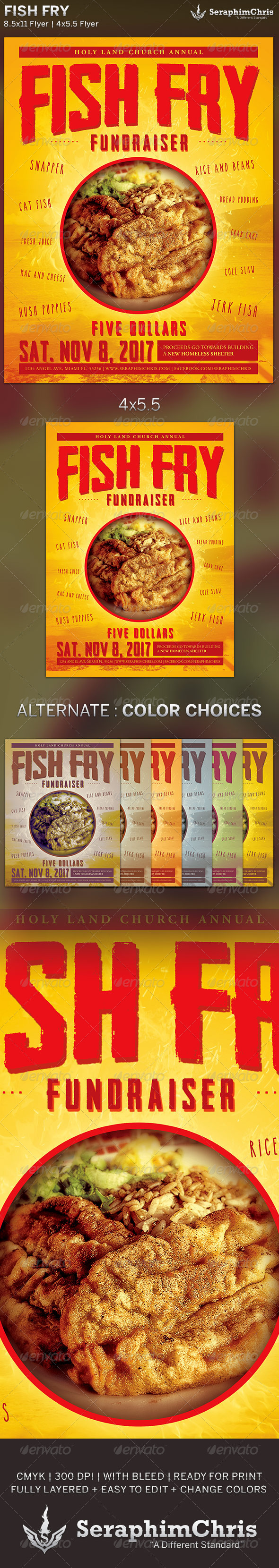 GraphicRiver Fish Fry Event Flyer Template 6000950