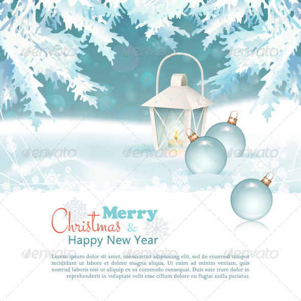 GraphicRiver Merry Christmas & New Year Celebration Background 5991537