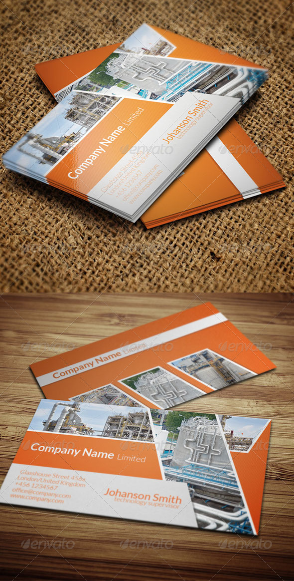 GraphicRiver Industrial Business card 6000966