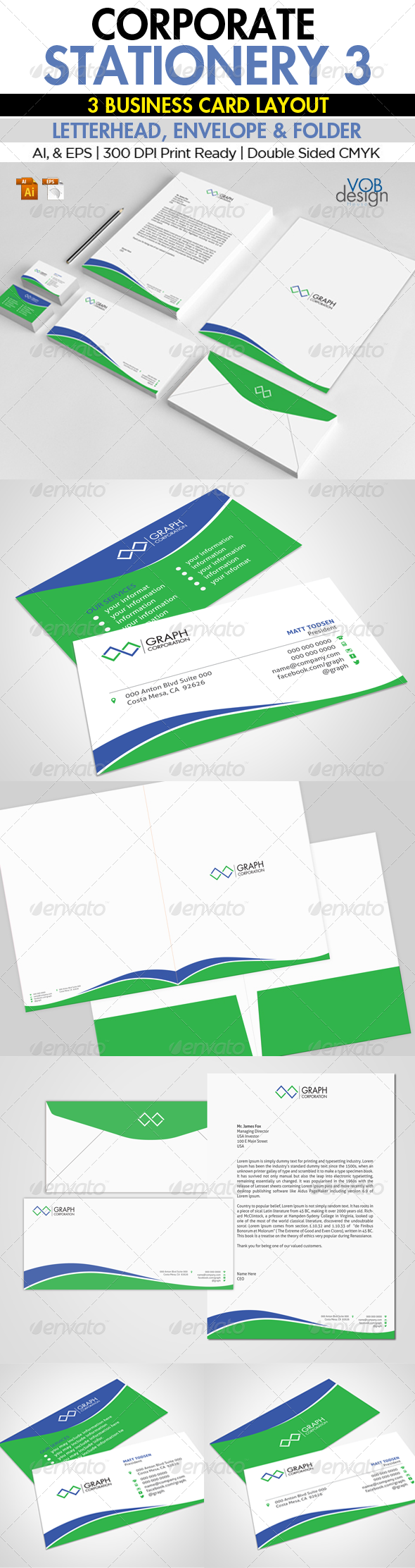 GraphicRiver Corporate Stationery 3 6000977