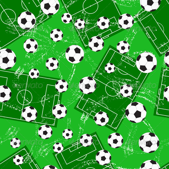 Background with Football Gate and Soccer Ball