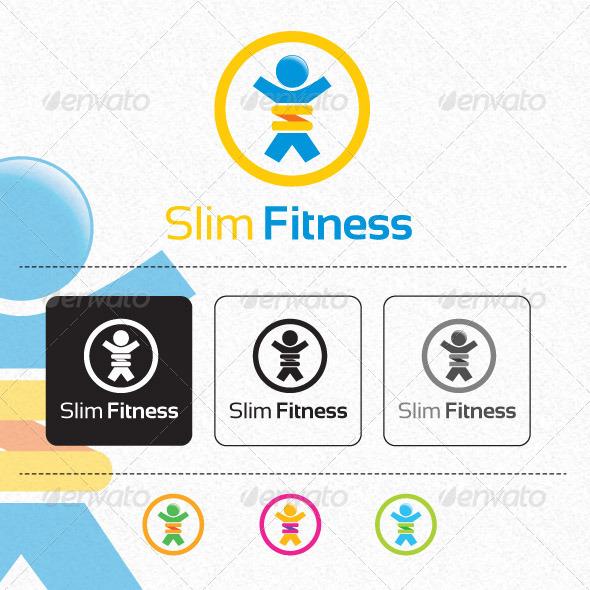 GraphicRiver Slim Fitness Logo Template 5989137