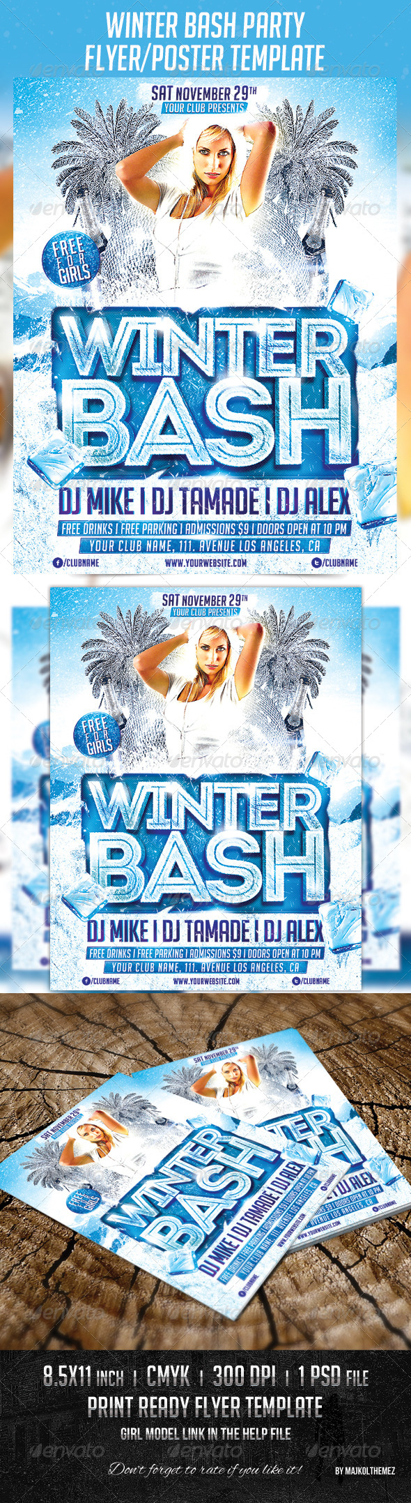 GraphicRiver Winter Bash Party Poster Template 6001591