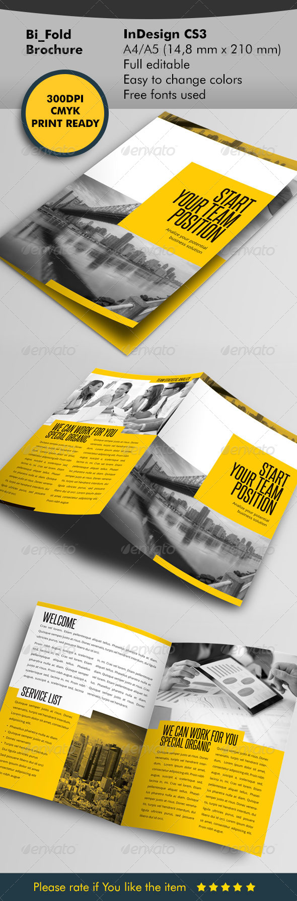 Team Your Business Bifold - Corporate Brochures