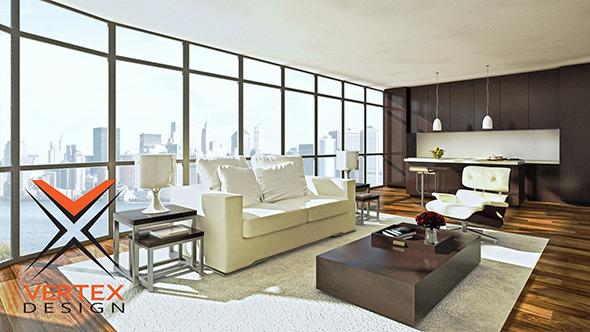 Living Room Render Ready - 3DOcean Item for Sale
