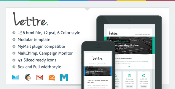 ThemeForest Lettre Responsive Email Template 6001745