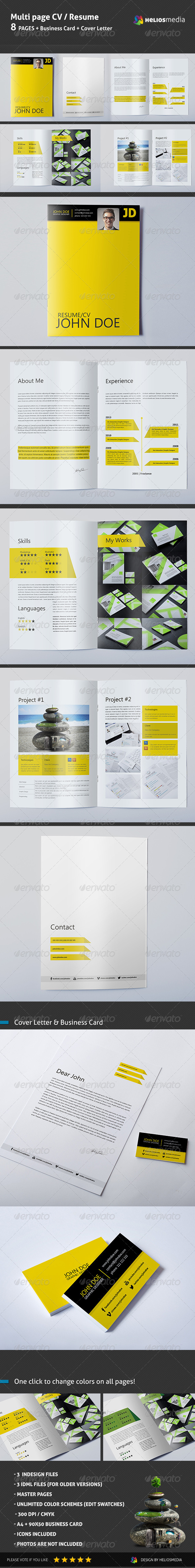 GraphicRiver Multi Page Resume 5985782