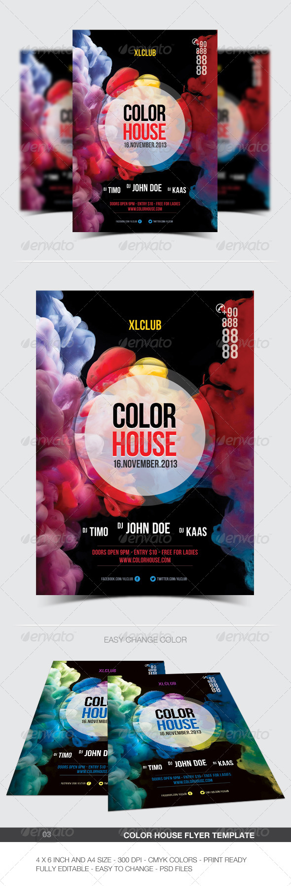 GraphicRiver Color House Flyer Poster 03 6001900