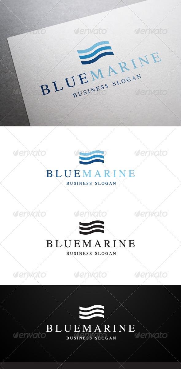 GraphicRiver Blue Marine Logo 6001919
