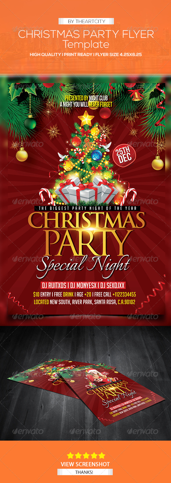 GraphicRiver Christmas Party Flyer 5980271