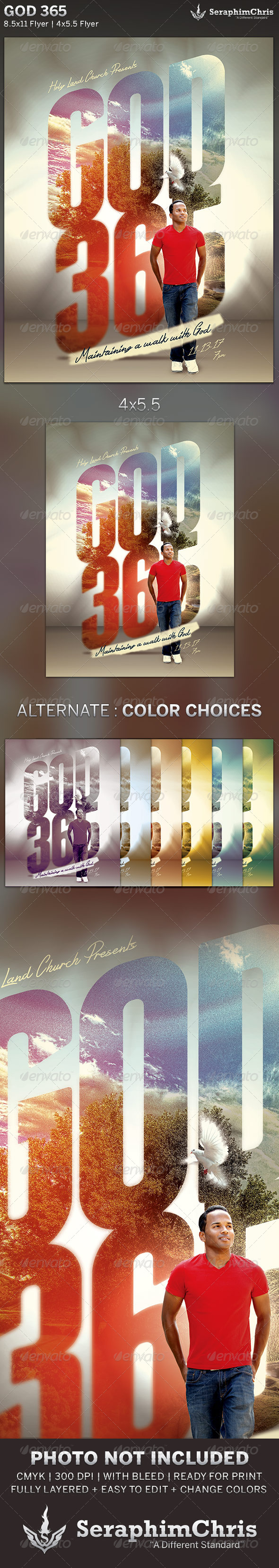 GraphicRiver God 365 Church Flyer Template 6002165