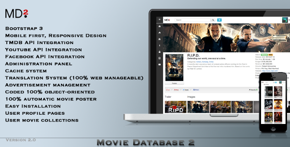 CodeCanyon Movie Database 2 6002194