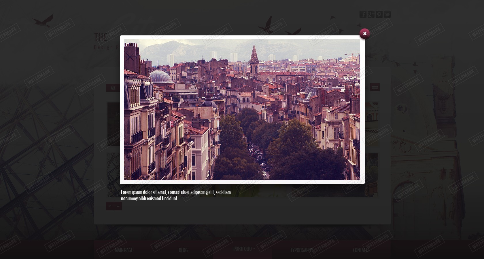 City - Portfolio Parallax Template
