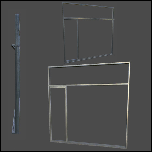 3DOcean Metal Door Frame 5740982