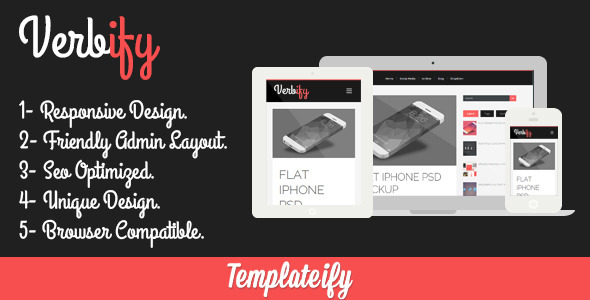 ThemeForest Verbify Responsive Blogger Template 5986631