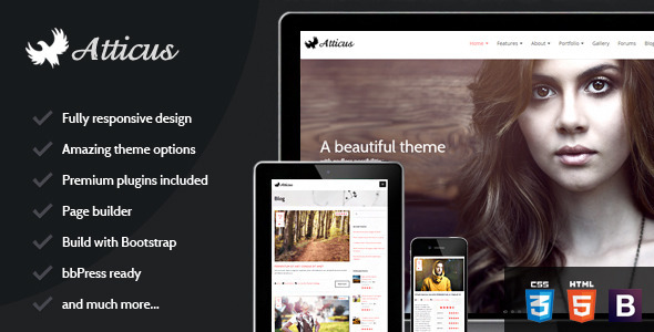 ThemeForest Atticus Clean Responsive Multi-Purpose Theme 6002718