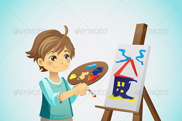 GraphicRiver Painting Kid 6002917