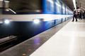 Colorful Underground Subway Train with motion blur - PhotoDune Item for Sale