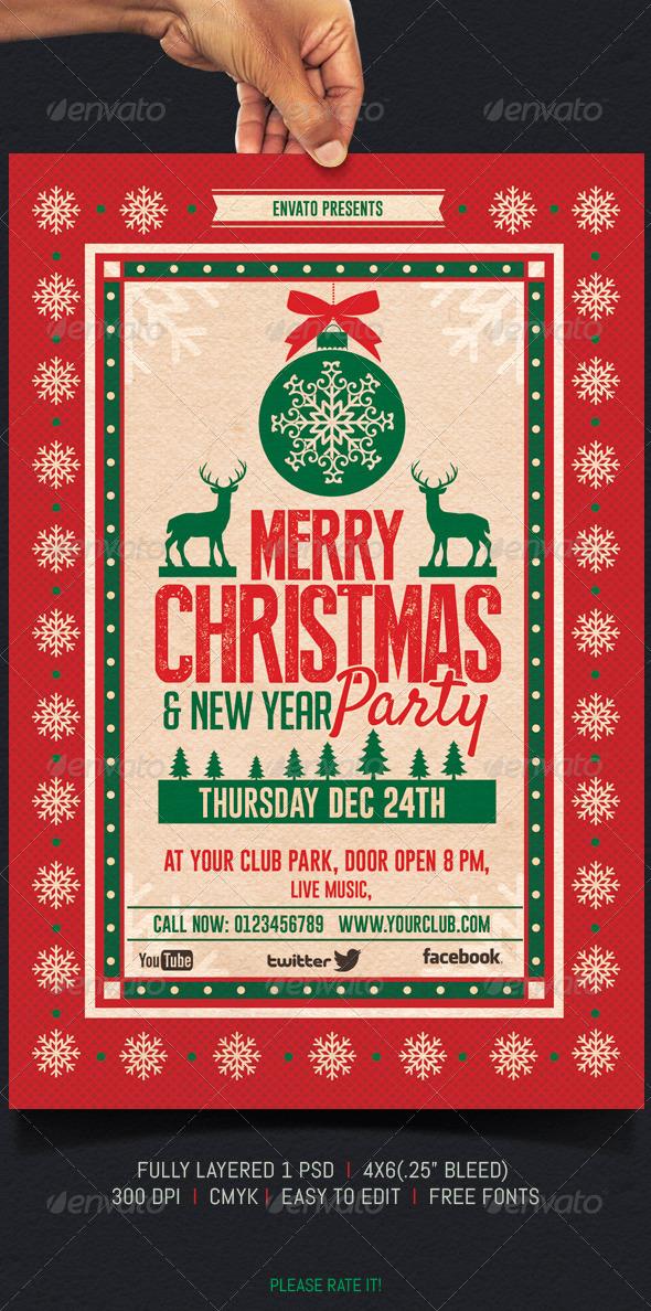 Flyer de Navidad Retro 2