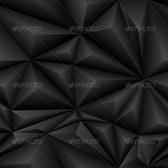 GraphicRiver Black Abstract Polygon Background Tile 6003400