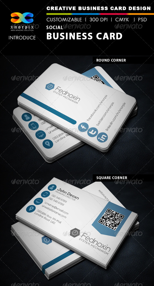 GraphicRiver Social Business Card 6003582