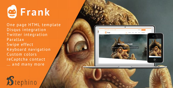 ThemeForest Frank Responsive One Page HTML 6003663