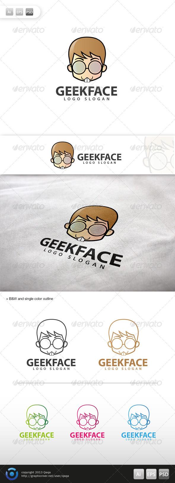 GraphicRiver Geek Face Logo 08 6004063