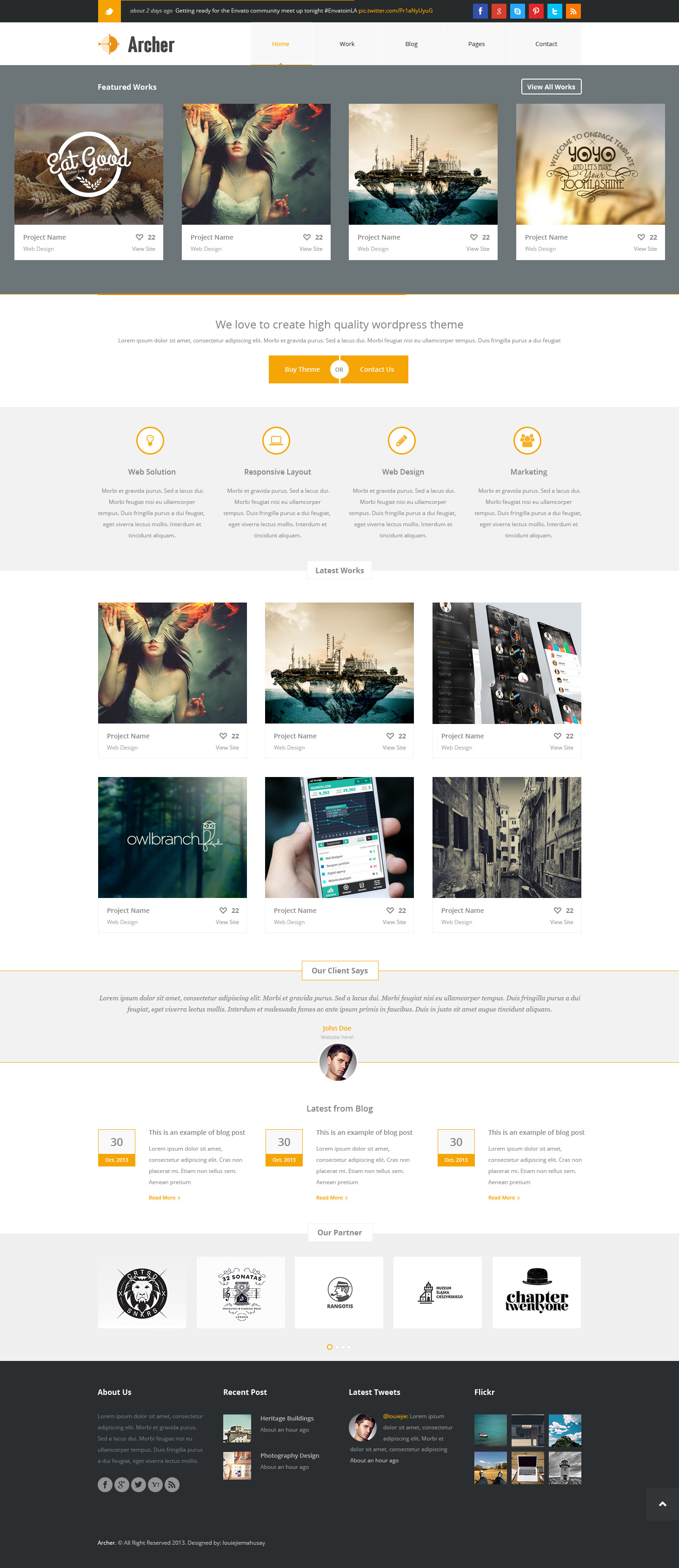 Archer - Business PSD Template
