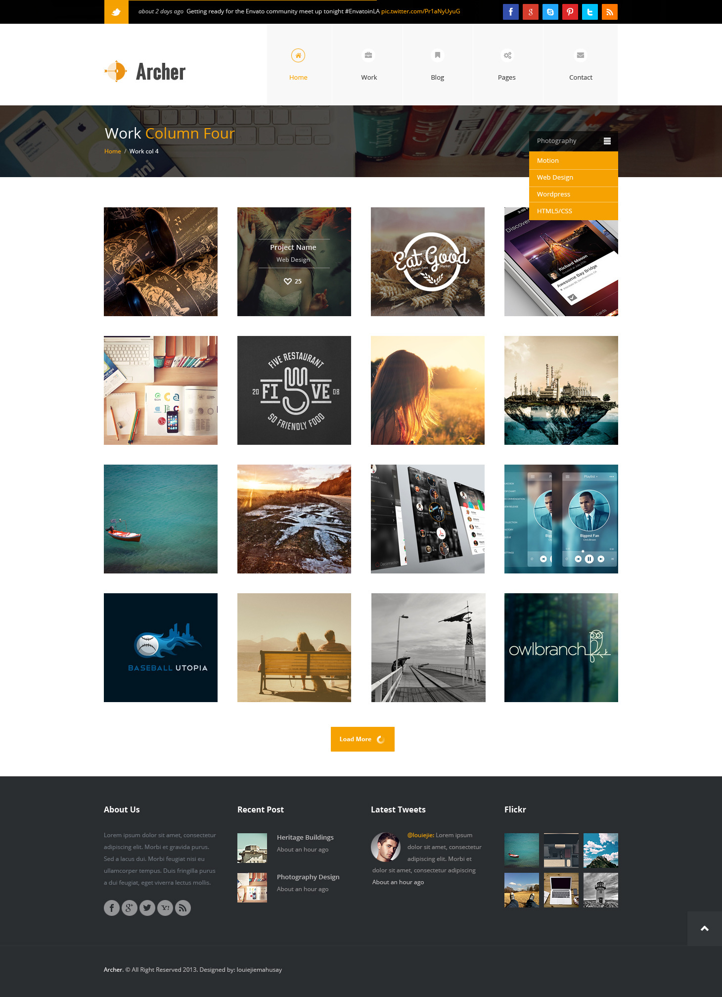 Archer - Business PSD Template -