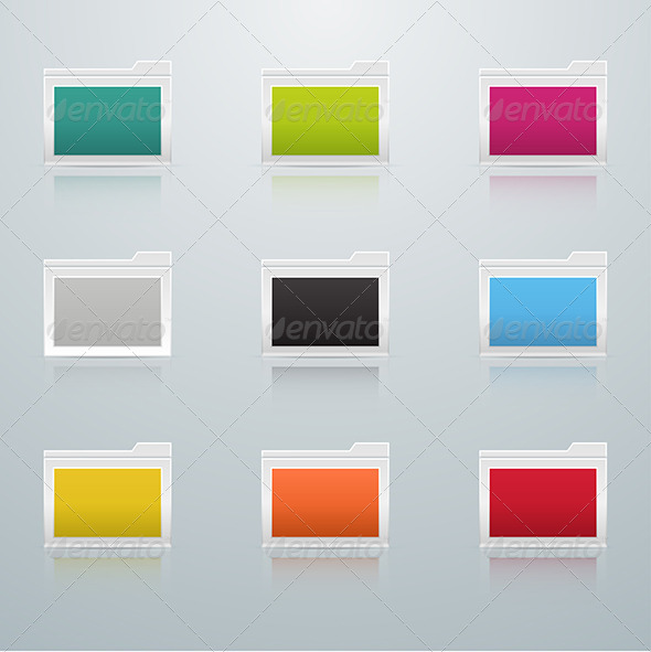 GraphicRiver Set of Colored Folders 6004684