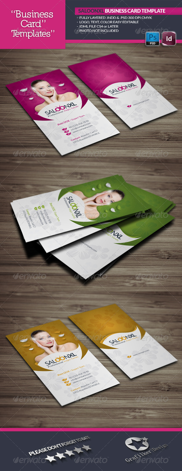 GraphicRiver Saloon Business Card Template 6004699