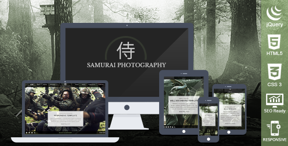 Samurai Photography HTML Template - Photography Creative