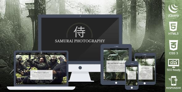 Samurai Photography HTML Template - Photography Creative