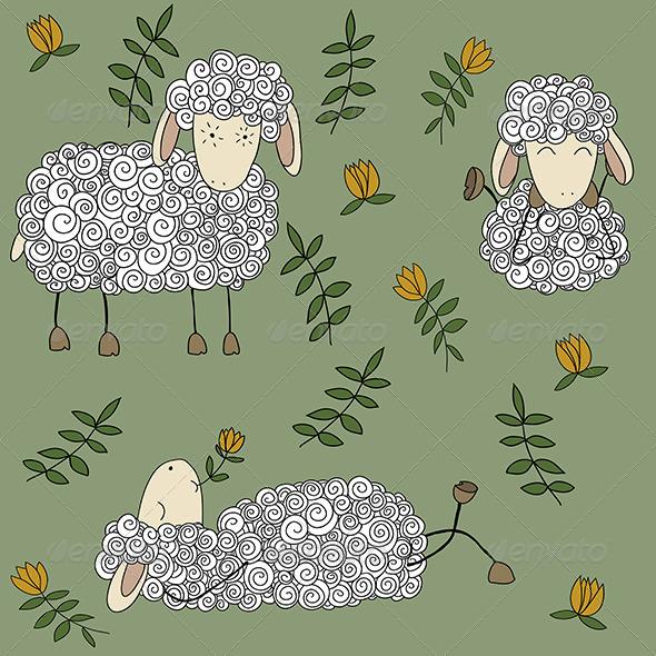 GraphicRiver Sheep Set 6005171