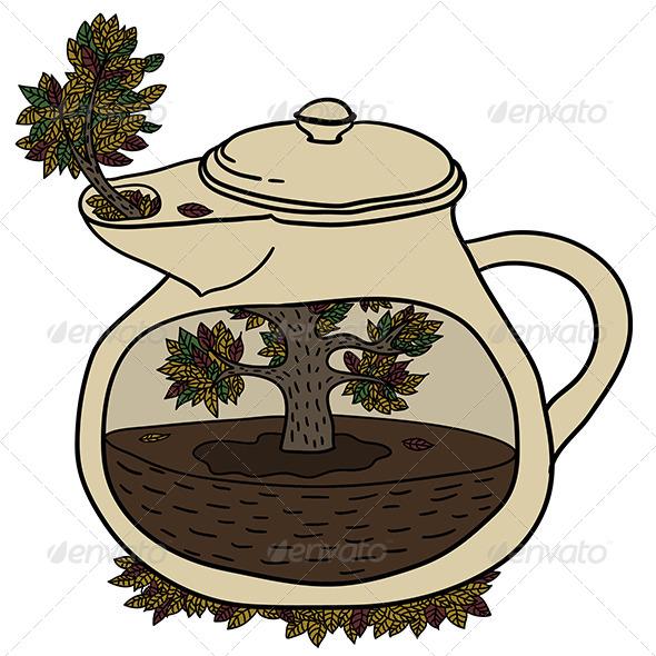 GraphicRiver Autumn Teapot 6005439