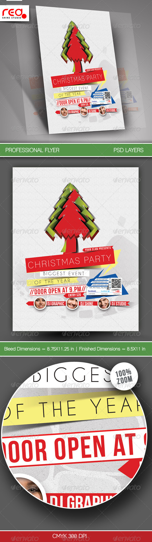 GraphicRiver Christmas Party Flyer & Poster Template 6005537