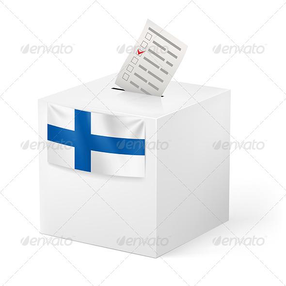 GraphicRiver Ballot Box with Voicing Paper Finland 6005552