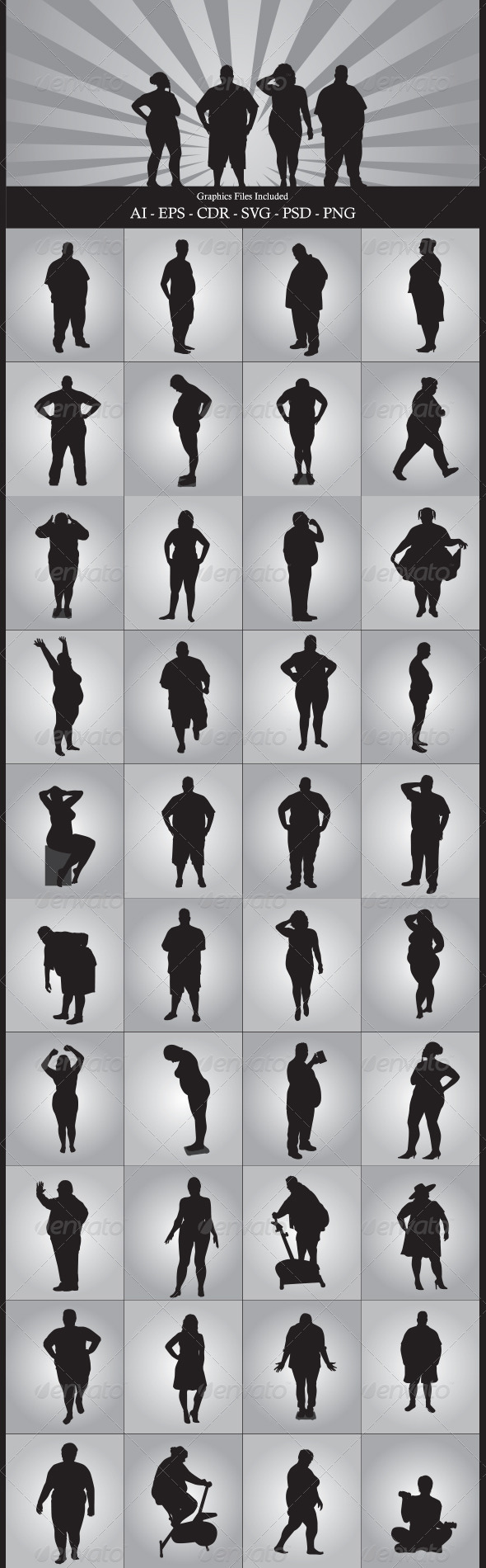 GraphicRiver Fat People 6005804