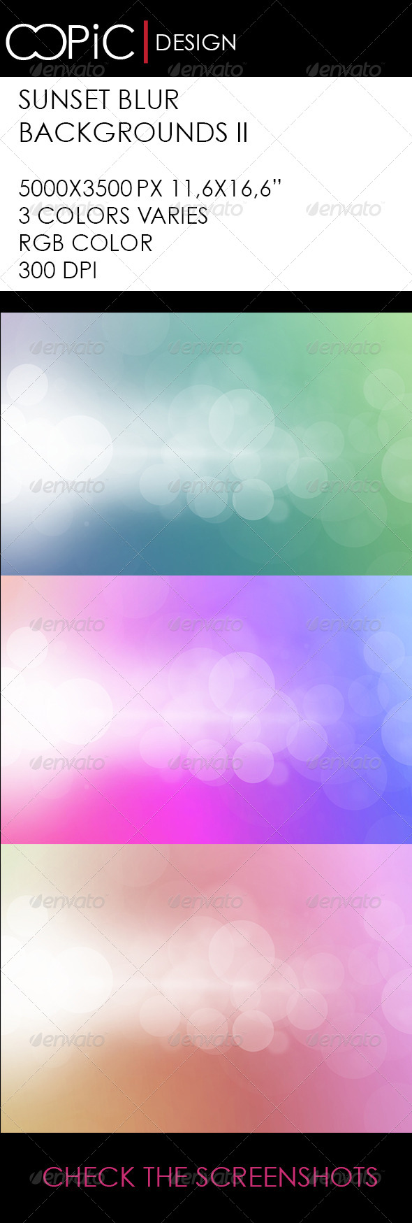GraphicRiver Sunset Blur Background II 6005973